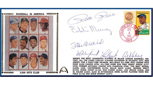 3,000 Hit Club (Murray,Musial,Winfield,Rose,Kaline & Brock)