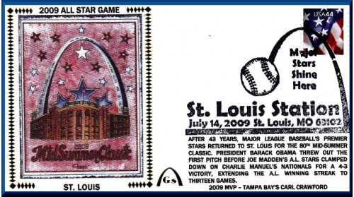 All-Star 2009 Artpiece #1 - Pink Arch (#6 Envelope) Unautographed