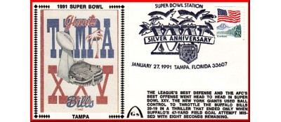 Super Bowl 1991 Artpiece Unautographed