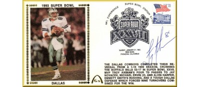 Super Bowl 1993 Troy Aikman Autograph + Photo