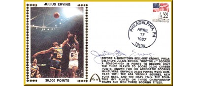 "Erving, Julius ""Dr. J"" (30,000 Points) SOLD OUT - Regular Stamp"