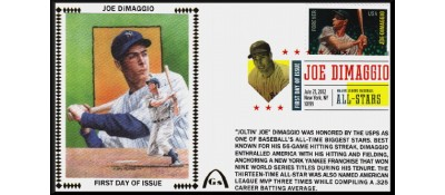 Hall Of Famers FDC - DiMaggio, Joe (Unautographed)
