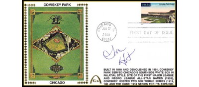 Legendary Playing Fields FDC Comiskey Park (LaMARR HOYT)  Machine Cancel