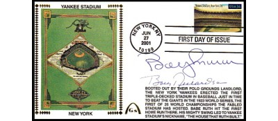 Legendary Playing Fields FDC Yankee Stadium Bobby Murcer/Bobby Richardsonr (Hand Cancel)