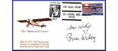 Lindbergh, Charles Anniversary Set of 3 - Auto. By Tom & Rose Wiley On May 20, 21 + 22