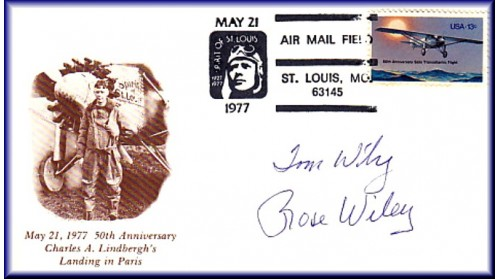 Lindbergh, Charles Anniversary - ADD: Autographs To  May 21st  Envelope  After Purchase Of Unautographed Set