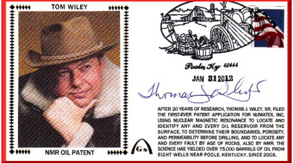 Wiley, Tom - Gateway Founder - Oil Patent (Philatelic)