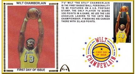 Chamberlain, Wilt FDC Color Single - Lakers (Unautograph)