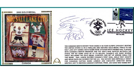 2002 Canadian Hockey Gold Medal (Sakic/Blake/Adam/Foote)