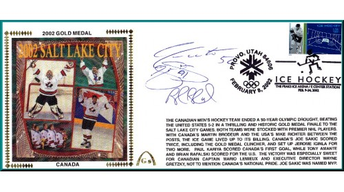 2002 Canadian Hockey Gold Medal (Sakic/Blake/Adam/Foote (SOLD OUT) NONE LEFT