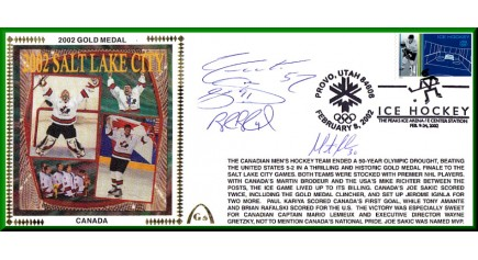 2002 Canadian Hockey Gold Medal (Sakic/Blake/Foote/Brodeur)  Three Left To Sell