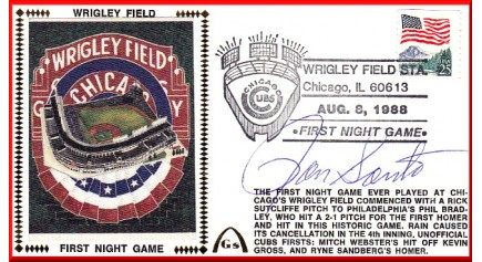 Wrigley Field 1st Night (Ron Santo)