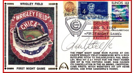 Wrigley Field 1st Night (Rick Sutcliffe0