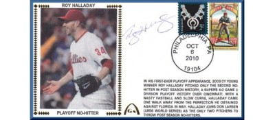 Halladay, Roy Playoff No-Hitter (ONE Left IN STOCK - NO DISCOUNT)