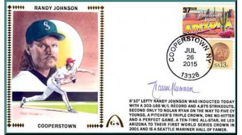 Johnson, Randy Hall Of Fame - 1 Left With Special Stamps-NO DISCOUNTS