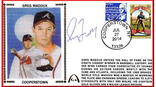 Maddux, Greg Hall Of Fame Induction (Autographs Out Of Stock)
