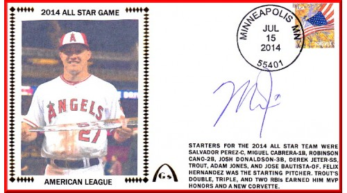 Trout, Mike 2014 All-Star (Autographed) Few Remain