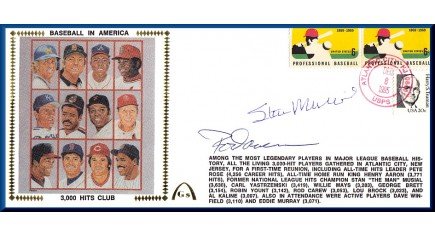 3,000 Hit Club Musial & Carew Autos (Large #10 Envelope)