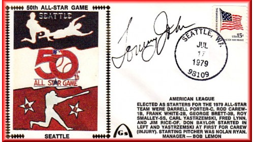 All Star 1979 Autographed By Tommy John (On Am LgOnly 1 Left-No Discount