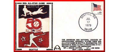 All-Star 1979  - Red, White, Blue Players Artpiece (Unautographed)