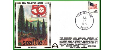 All-Star 1979  - Seattle Trees Artpiece (Unautographed)