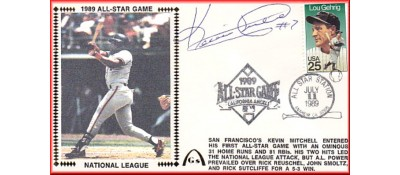 All-Star 1989 Kevin Mitchell (Autographed) Mitchell Silk