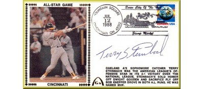 All-Star 1988 Terry Steinbach Autographed  (Steinbach Silk)