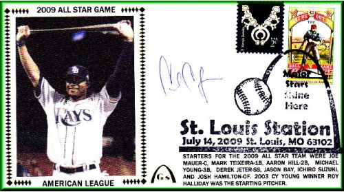 All-Star 2009 Carl Crawford (#6 Envelope) Autographed