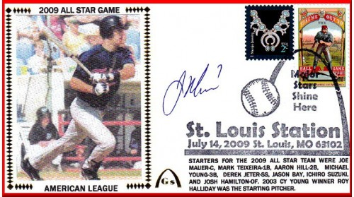 All-Star 2009 Joe Mauer (#6 Envelope) Autographed