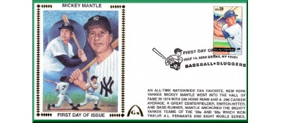 Baseball SluggersMantle/Campanella/Ott/Greenberg (Set - FDC)