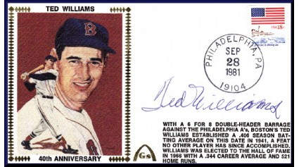 Williams, Ted (40th Anniversary - Autographed)