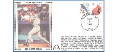 McGwire, Mark 400 Home Runs - Unautographed