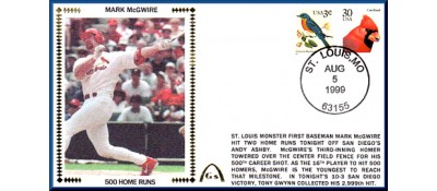 McGwire, Mark 500 Home Runs - Unautographed