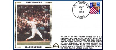 McGwire, Mark 62 Home Runs - Unautographed