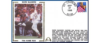 McGwire, Mark 70 Home Runs - Unautographed