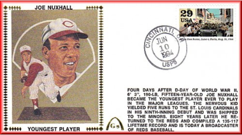 Nuxhall, Joe 50th Anniversary Youngest Player In MLB  - Unauto. - Allies Free Rome
