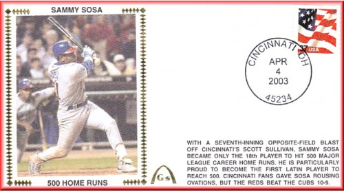 Sosa, Sammy 500 Home Runs  - Unautographed