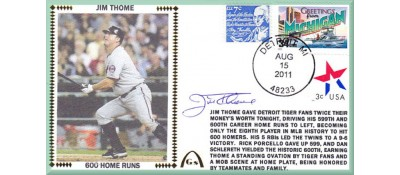 Thome, Jim 600 Home Runs  - Autographed (In Stock)