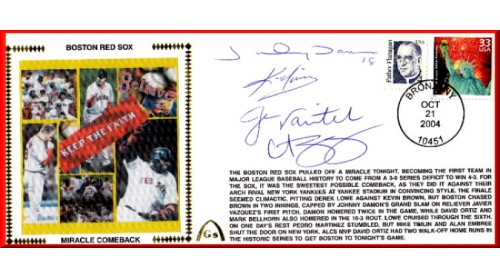 Boston Miracle Comeback  (Damon, Schilling, Varitek, Youklis - ( SOLD OUT)