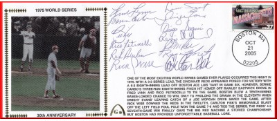 Boston 1975 World Series Anniversary (13 Autographes Reunion Team)