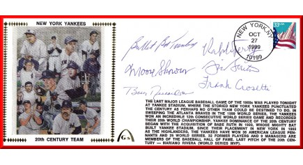 Yankee Team Of  20th Century (Turley/Skrowon/Richardson/Terry/Burton/Crosetti)