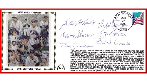 Yankee Team Of  20th Century (Turley/Skrowon/Richardson/Terry/Burton/Crosetti) ONLY 5 REMAIN