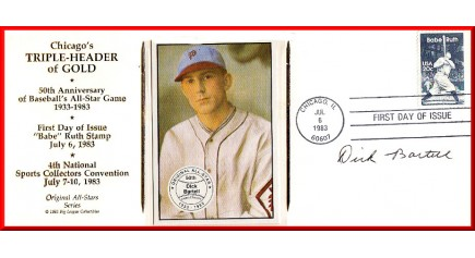 Bartell, Dick - Chicago Triple-Header FDC (Bartell Card)
