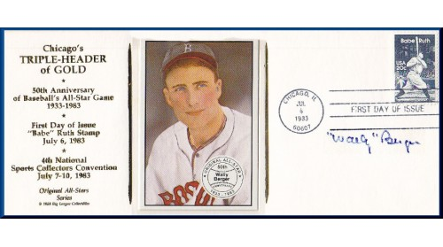 Berger, Wally - Chicago Triple-Header FDC (Berger Card)