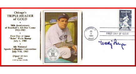 Berger, Wally- Chicago Triple-Header FDC (Ruth Card)