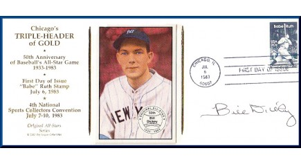 Dickey, Bill- Chicago Triple-Header FDC (Dickey Card)
