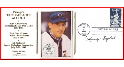 English, Woody - Chicago Triple-Header FDC (English Card)