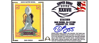 Super Bowl 2003 Artpiece (Derrick Brooks Autograph)