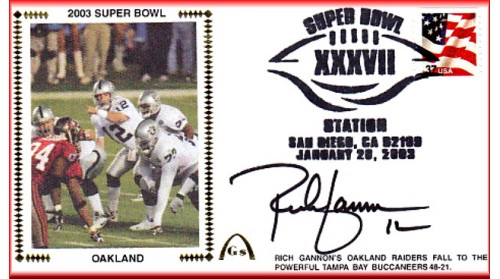 Super Bowl 2003 Autographed By Rich Gannon (Gannon Photo)