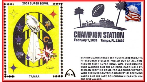 Super Bowl 2009 Artpiece #1 - Unautographed